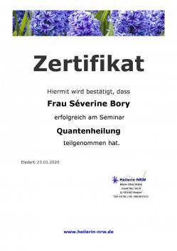 Zertifikat severine bory page 0